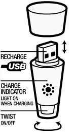 USB campinglamp fleslamp