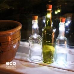 fles met lamp
