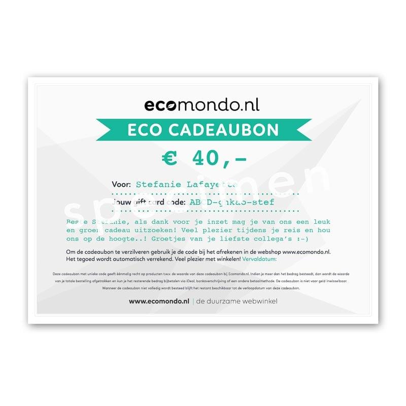 Ongebruikt Ecomondo Cadeaubon, al vanaf € 15,- | Ecomondo, duurzame webwinkel UM-97