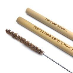 bamboe rietjes met tekst