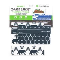 lunchskins set charcoal bear