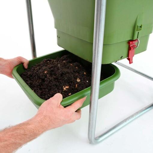 compost met wormen