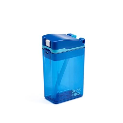 drink in de box herbruikbaar drinkpakje blauw zij