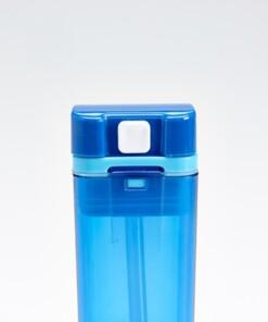 drink in de box herbruikbaar drinkpakje blauw knop