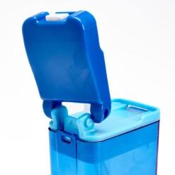 drink in de box herbruikbaar drinkpakje blauw achterkant