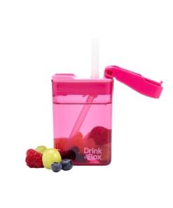 drink in de box herbruikbaar drinkpakje roze vol