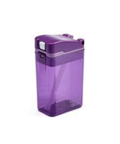 drink in de box herbruikbaar drinkpakje paars zijkant