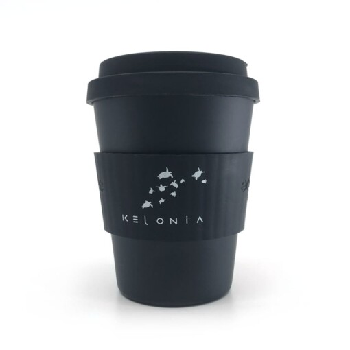 herbruikbare koffiebeker ecoffee cup kelonia logo
