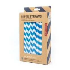 papieren rietjes kikkerland blauw
