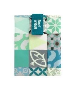 boc n roll patchwork green