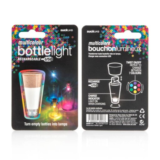 bottle light multi colour