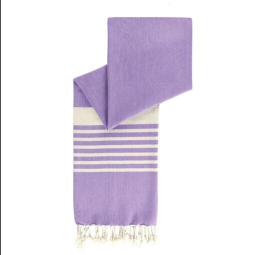 happy towels hamamdoek biokatoen lavendel