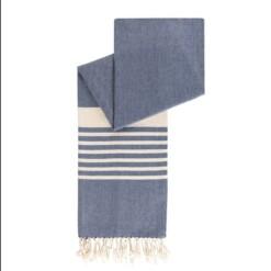 happy towels hamamdoek biokatoen grijsblauw mannen