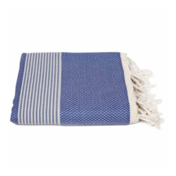 blauwe hamamdoek bamboe