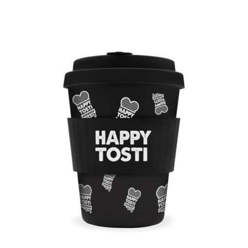 ecoffee cup happy tosti logo