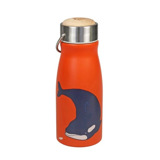 the zoo thermos fles orka rood