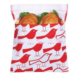 lunchskins sandwich bag big red birds