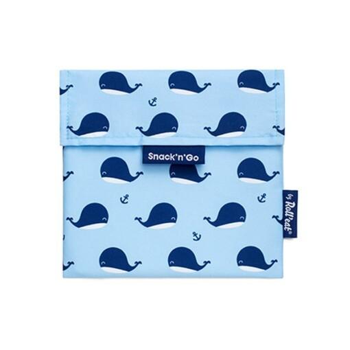 snack n go herbruikbaar boterhamzakje whales