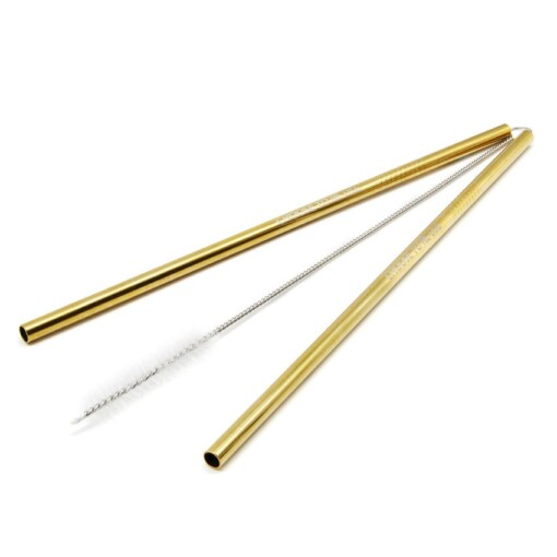 ecoffee cup straw gold