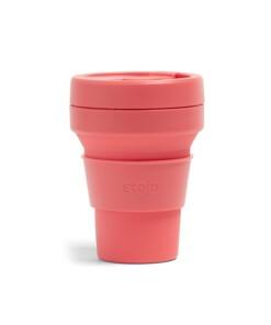 stojo pocket cup coral