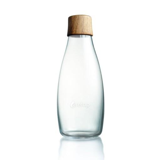 retap glazen fles houten dop