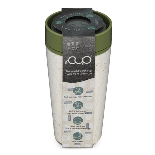 rcup cream green thermosbeker