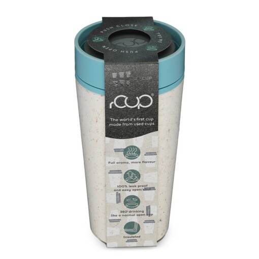 rcup cream teal thermosbeker