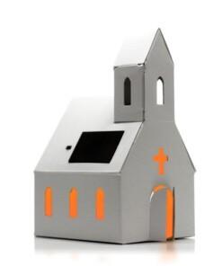 bouwpakket kerkje zonnepaneel