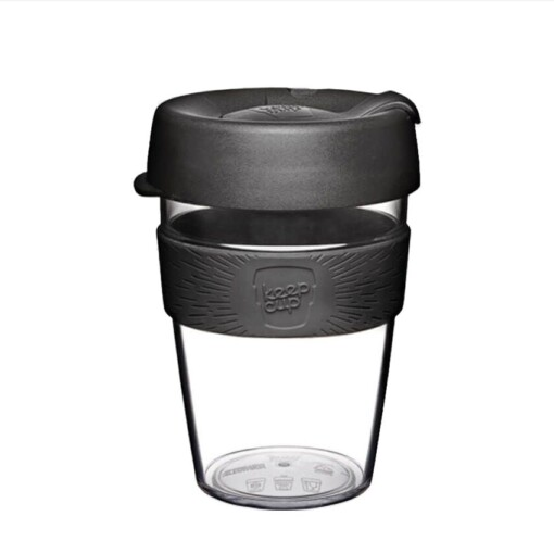 keepcup clear medium black