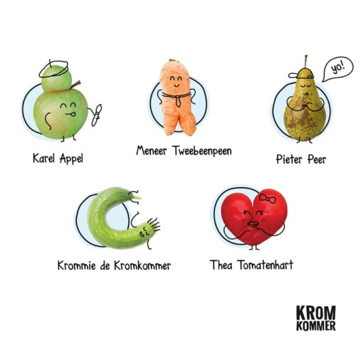 kromkommer speelgoed karakters