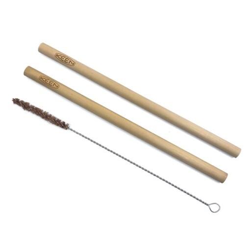 bamboe rietjes met logo