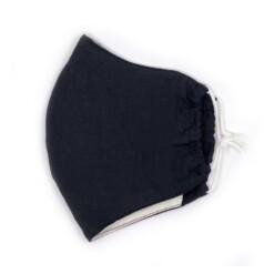 herbruikbaar zwart mondkapje