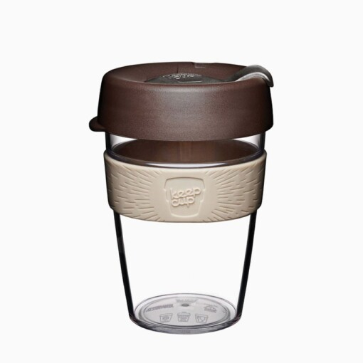keepcup clear medium almond bruin