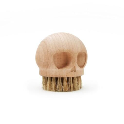 skull brush houten afwasborstel zijkant