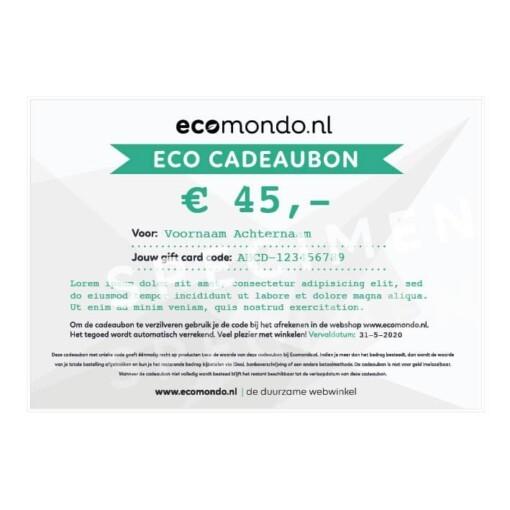 eco cadeaubon 45 euro