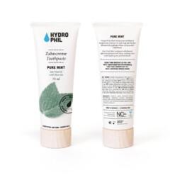 hydrophil tandpasta pure mint label
