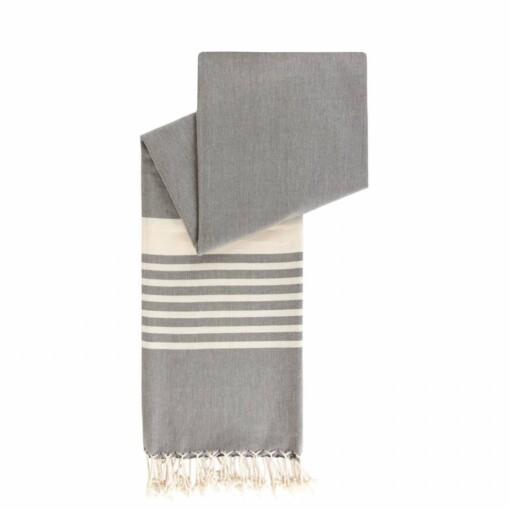leisteens grijs happy towels biokatoen