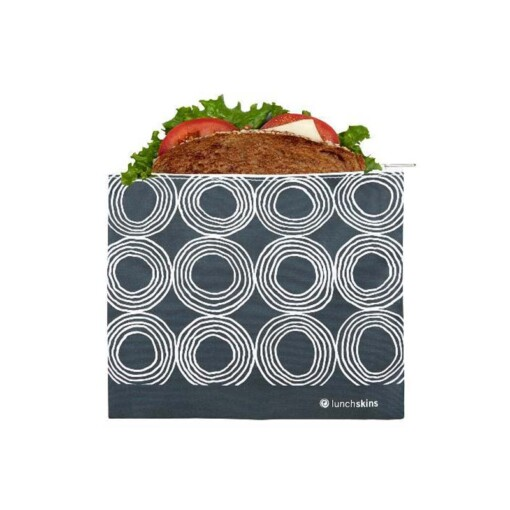 lunchskins sandwich bag zipper charcoal circles