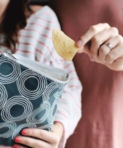 lunchskins sandwich bag zippercharcoal cirkes