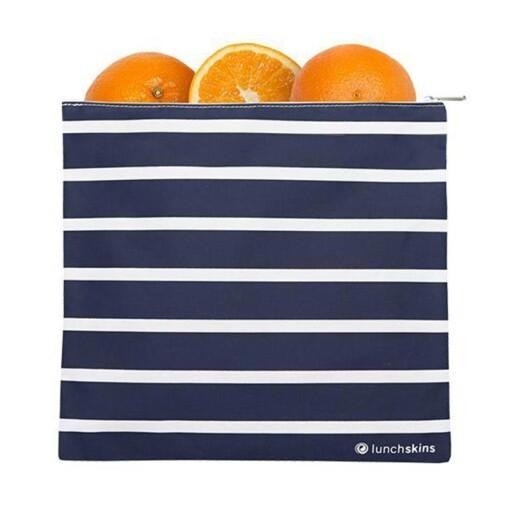 lunchskins vriezerzak navy stripes