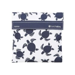 lunchskin sandwich bag navy turtle