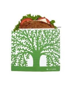 lunchskins sandwich bag zipper green tree