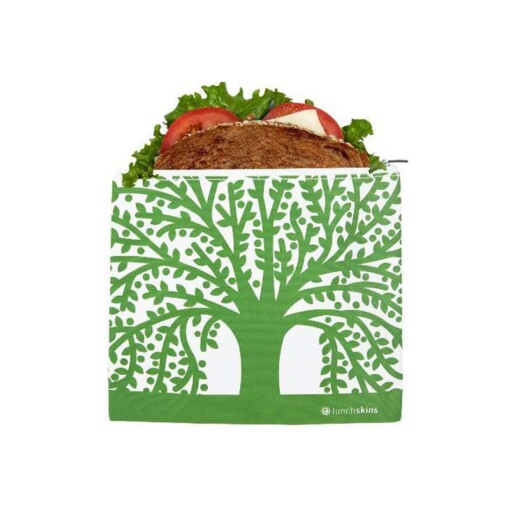 lunchskins sandwich bag zipper green tree