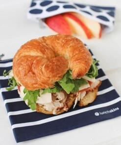 lunchskins sandwich bag zipper navy stripes