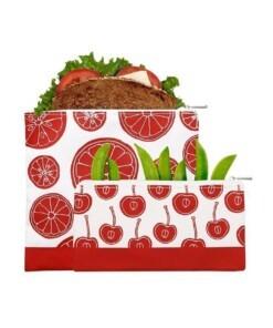 lunchskin 2pack zipper red fruit