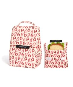 keep leaf lunchbag retro apples