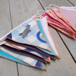 herbruikbare stoffen vlaggenlijn