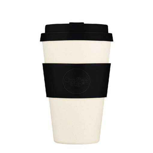 ecoffee cup large 400ml solid black nature