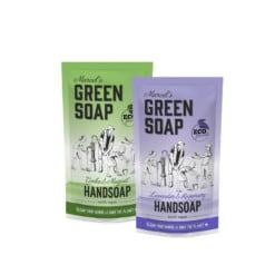 navulling handzeep marcels green soap navulzak
