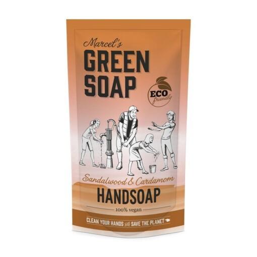 marcels green soap handzeep navulzak sandekhout